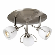PLC 5358-SN Focus Contemporary Satin Nickel Halogen Ceiling Light