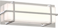 PLC 55012PC Brookland Modern Polished Chrome LED 15  Vanity Lighting