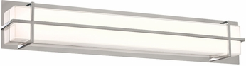 PLC 55016PC Brookland Modern Polished Chrome LED 33.5  Bath Light Fixture