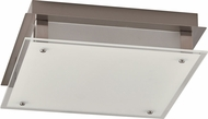 PLC 55025SN Essex Modern Satin Nickel LED 12  Ceiling Light Fixture