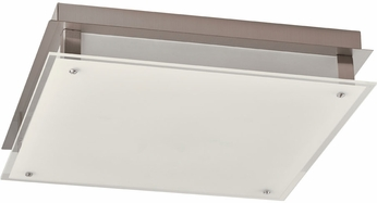 PLC 55027PC Essex Contemporary Polished Chrome LED 16  Flush Lighting