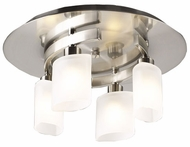 PLC 648-SN Wyndham Halogen Ceiling Light in Satin Steel