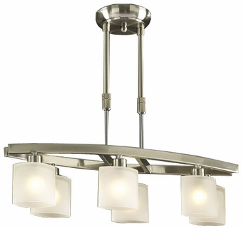 PLC 649-SN Wyndham Adjustable Halogen Pendant Light in Satin Nickel