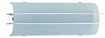 PLC 651 Aleta 13 inch Modern Bathroom Light with White Acid Frosted Glass