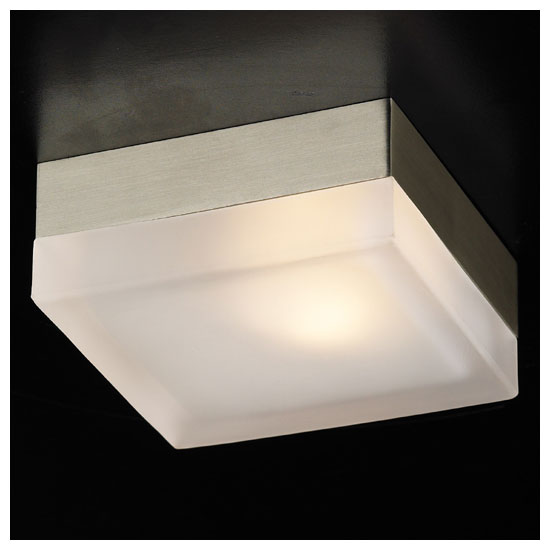 Plc 6573 Praha Small Modern Flush Mount Ceiling Wall Sconce