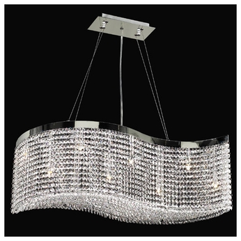 PLC 66010 Clavius Pendant Light with clear asfour crystals