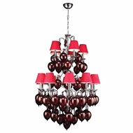 PLC 70027-RED-PC Sofitel Contemporary Polished Chrome Hanging Chandelier