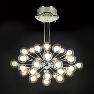 PLC 72108-PC Coupe 37-Bulb Modern Chandelier