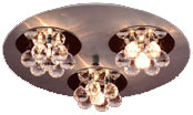 PLC 72133-AL_PC Bolero Contemporary Crystal Flush-Mount Ceiling Light - 15 inches wide