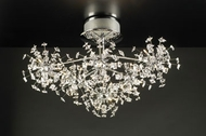 PLC 72165-PC Firework Contemporary Crystal Flush-Mount Ceiling Fixture - 26 inches wide