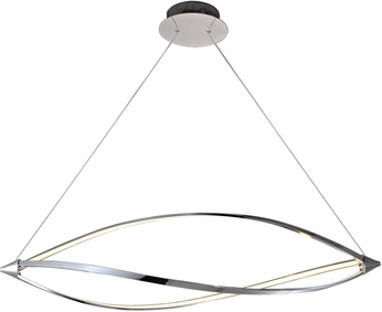 PLC 7300PC Orion Contemporary Polished Chrome LED Kitchen Island Light