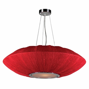 PLC 73012-RED Mars Contemporary Red Drop Ceiling Lighting