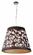 PLC 73037-BLACK Infinity Polished Chrome Hanging Lamp