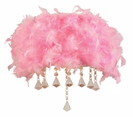 PLC 73045-PINK Peacock Feathered Wall Lighting Fixture