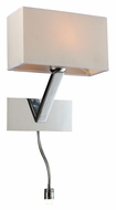 PLC 73050-PC Torsion Contemporary Wall Light With LED Gooseneck