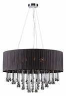 PLC 73056-BLACK Rain 28 Inch Diameter Polished Chrome Ceiling Pendant Light