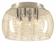 PLC 73068-PC Hydro 15 Inch Diameter Contemporary Style Ceiling Light Fixture