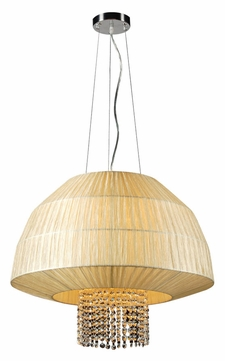 PLC 73082-BEIGE Tourou Modern 24 Inch Diameter Hanging Light