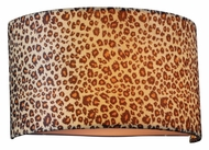 PLC 73093-PC Leopard Print 12 Inch Wide Wall Lighting Fixture