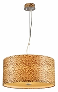 PLC 73097-PC Leopard Print 20 Inch Diameter Drum Lighting Pendant