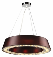 PLC 73099-BLACK Veranda 24 Inch Diameter Contemporary Ceiling Light Pendant