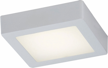 PLC 7410WH Rubix Contemporary White LED Flush Mount Ceiling Light Fixture