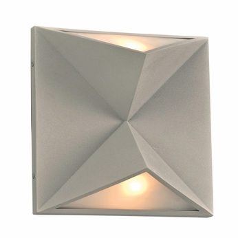 PLC 7548SL Chyna Contemporary Silver Wall Sconce Light