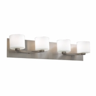 PLC 7614-SN De Lion Contemporary Satin Nickel Halogen 4-Light Vanity Lighting Fixture