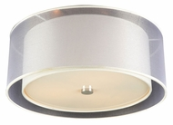 PLC 7676-PC Merritt 3 Lamp Modern Flush Mount Lighting