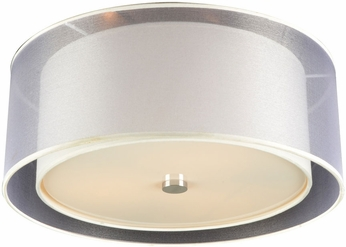 PLC 7676PCLED Daytona Contemporary Polished Chrome LED Overhead Lighting
