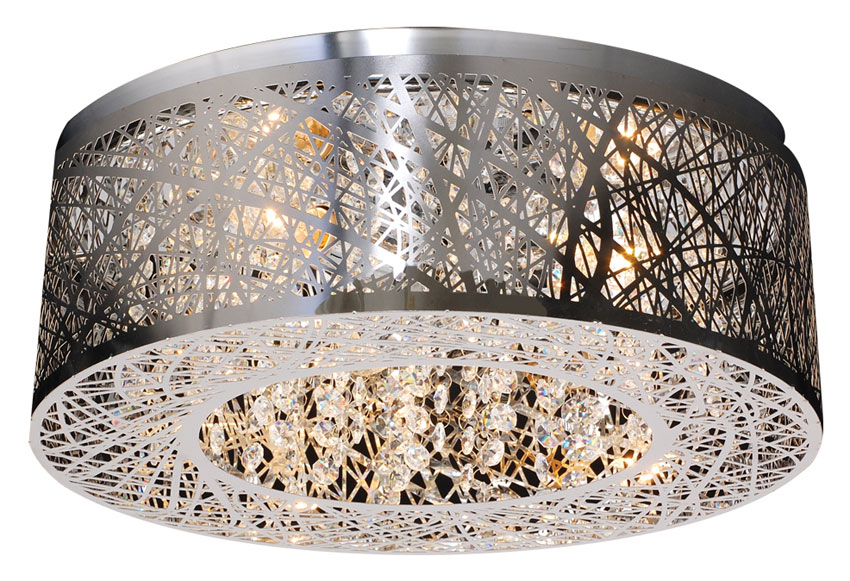 Plc 77747 Pc Nest 16 Inch Diameter Contemporary Flush Lighting Polished Chrome
