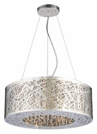 PLC 77748-PC Nest Modern 22 Inch Diameter Polished Chrome Ceiling Pendant Lighting