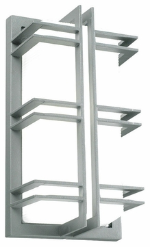 PLC 8012-SL Gulf Contemporary Silver Exterior Wall Lighting Sconce