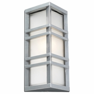 PLC 8020-SL Trevino Contemporary Silver Exterior Wall Mounted Lamp