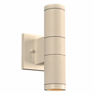 PLC 8024WH Troll-II Contemporary White Exterior Wall Lighting Sconce