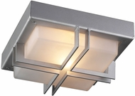 PLC 8026SLLED Piccolo Contemporary Silver LED Outdoor Ceiling Lighting