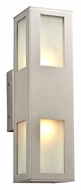 PLC 8041-SL Tessa Exterior Silver Contemporary Wall Sconce Light
