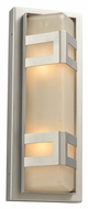 PLC 8043-SL Sasha Silver Contemporary Style Outdoor Wall Light Sconce