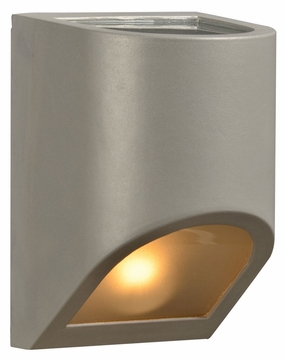 PLC 8049-SL Perry Modern Silver Exterior Lighting Sconce