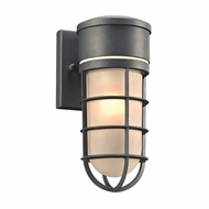 PLC 8050BZ Cage Modern Bronze Outdoor Wall Light Sconce