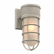 PLC 8050SL Cage Contemporary Silver Exterior Wall Sconce Light