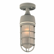 PLC 8052SL Cage Contemporary Silver Exterior Flush Mount Lighting Fixture