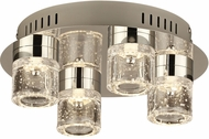 PLC 81114PC Yoki Modern Polished Chrome LED Ceiling Light