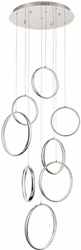 PLC 81318PC Jazz Polished Chrome LED Multi Hanging Light