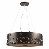 PLC 81395BK Twilight Black Drum Hanging Pendant Lighting