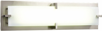 PLC 814SNLED Polipo/T5 Modern Satin Nickel LED 27  Vanity Light Fixture