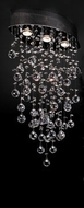 PLC 81621-PC Drizzle Crystal Pendant Light - 17 inches wide