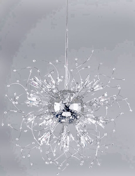 PLC 81635-PC Empire 28 inch Handcut Crystal Bead Chandelier