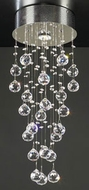 PLC 81720-PC Beverly Crystal Pendant Light - 9.5 inches wide