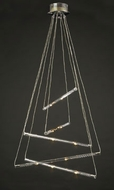PLC 83102-PC DNA-III Contemporary Pendant Light - 26 inch long
